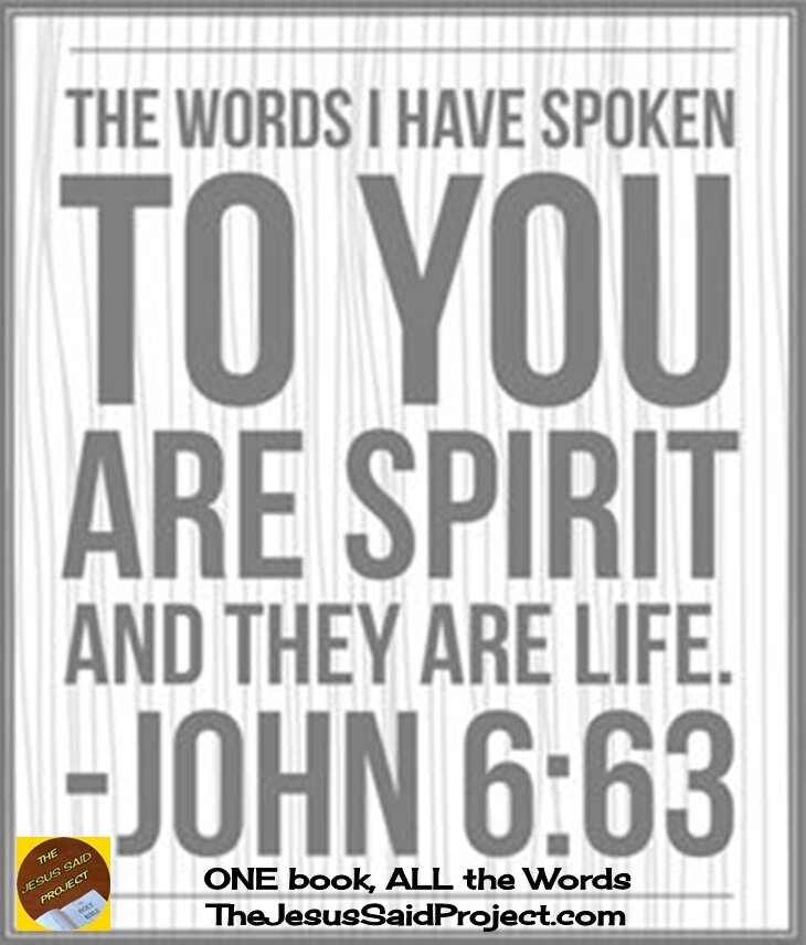 Jesus' Words of Spirit and Life